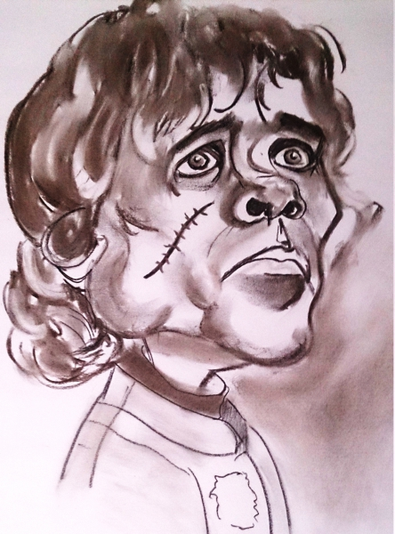 Tyrion Lannister (Game of Thrones). Author: Jose Manuel Gallego Garcia. All Rights Reserved. Visit: retratarte.org