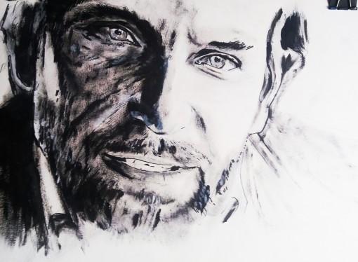 Bradley Cooper retrato al acrílico. Autor Jose Manuel Gallego Garcia. todos los derechos reservados. visita retratarte.org  510x374 - Bradley Cooper. Retrato al Acrílico