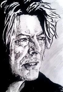 David Bowie Autor Jose Manuel Gallego Garcia Todos los Derechos Reservados visita retratarte.org  206x300 - Cómo Encargar un Retrato a Mano