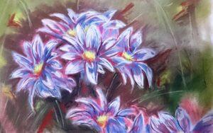 Flores en mi jardin. Author Jose Manuel Gallego Garcia. All Rights Reserved. Visit Retratarte.org  300x188 - Selección de Obras de José Manuel Gallego García