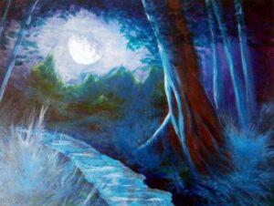 La Noche Autor Jose Manuel Gallego Garcia visit retratarte.org  300x226 - Selección de Obras de José Manuel Gallego García