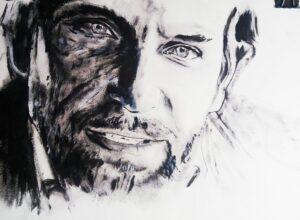 Bradley Cooper retrato al acrílico. Autor Jose Manuel Gallego Garcia. todos los derechos reservados. visita retratarte.org  300x220 - Cómo Encargar un Retrato a Mano